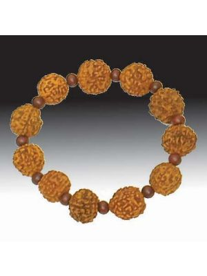 Rudraksha and Rosewood Bracelet 12mm