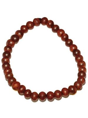 Rose Wood Bead Bracelet 6mm