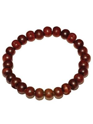 Rose Wood Bead Bracelet 8mm