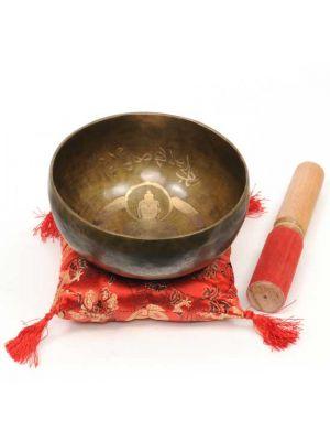 Brass Carved Singing Bowl 6