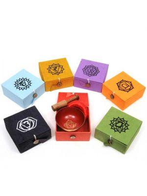 Brass Chakra Singing Bowls Set/7