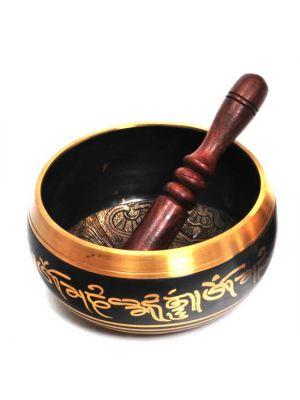 Brass Singing Bowl - 5 Buddhas 5.5