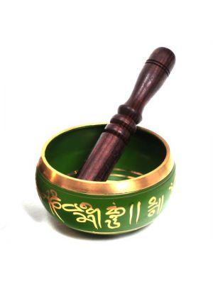Brass Singing Bowl - Buddha Eyes 4