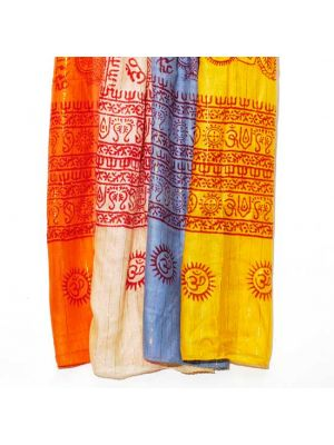 Hindu Spiritual Rayon Scarves with Gold Thread  Set/8