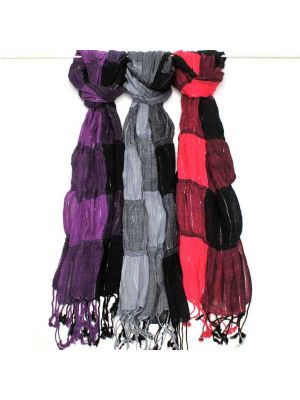 Rayon Scarves with Silver Threads Set/6 18