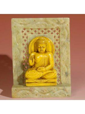 Stone Shrine Sitting Buddha 4