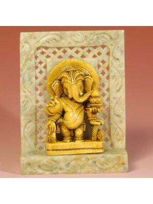 Stone Shrine Pillar  Ganesh 4