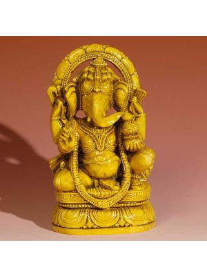 Resin Shrine Sittng  Ganesh 6