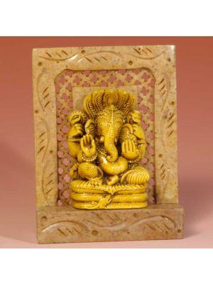 Stone Shrine Sitting  Ganesh 4