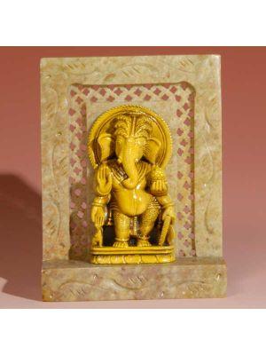 Stone Shrine Standing Ganesh 4
