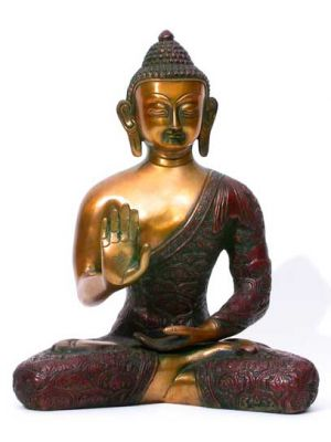 Brass Antique Finish Buddha 11
