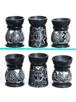 Black Soapstone Aroma Lamps 3.5