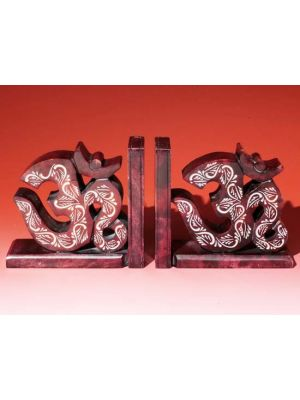 Stone Book Ends Om Pair Set/2