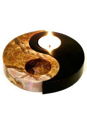 Stone Yin-Yang Candle Burner