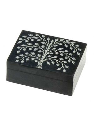 Black Stone Box Tree of Life 3x4