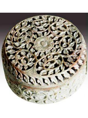 Stone Box Fine Filigree Carved 5