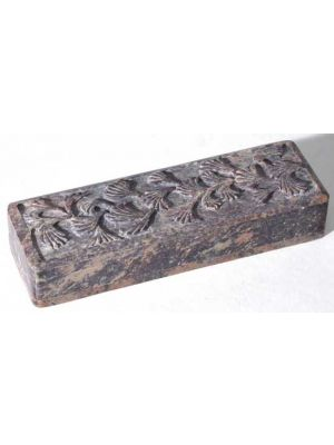 Carved Soapstone Pencil or Watch Box 8