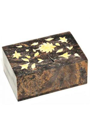 Stone Box Shell Inlaid 6x4x3