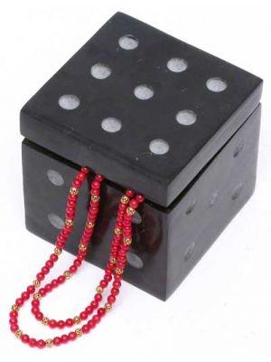 Stone Funny Dice Hinged Box 2