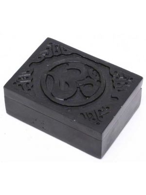 Om Black Soapstone Box 3
