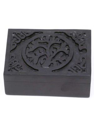 Tree of Life Black Soapstone Box 3