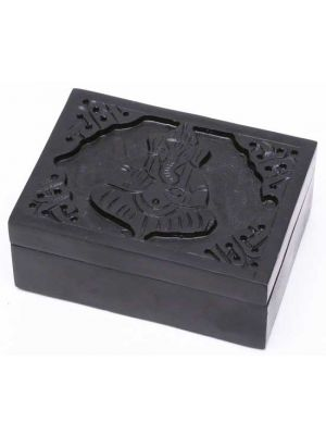 Ganesha Black Soapstone Box 3
