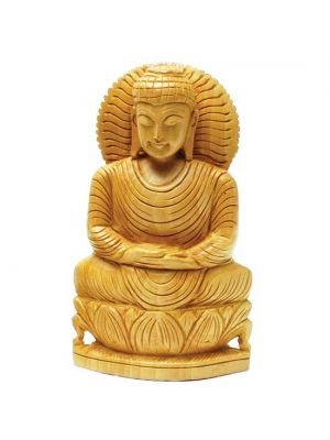 Hand Carved Wood Buddha 6