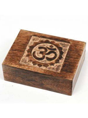 Mango Wood Box Om 7