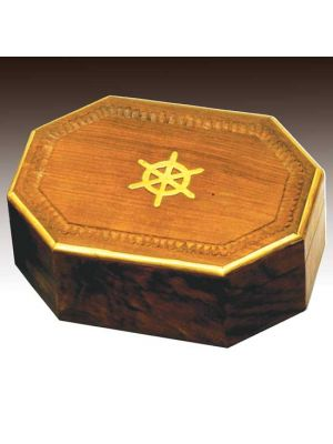 Wood Box Octagon Nautical 8X5