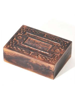 Carved Mango Wood Box 7