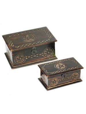 Wood Box Pentagram Set/2 11X7