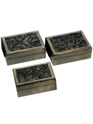Wood Box Antique Set/6  5