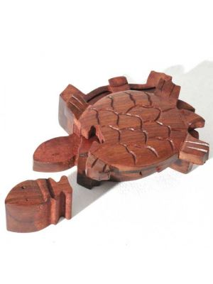 Wood Turtle Puzzle Box