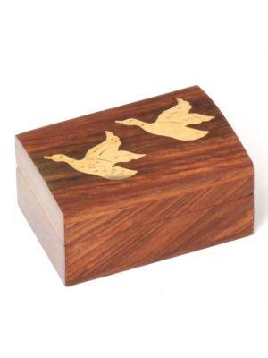Wood Box with Ducks 3.5