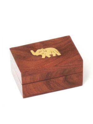 Wood Box with Elephant 3