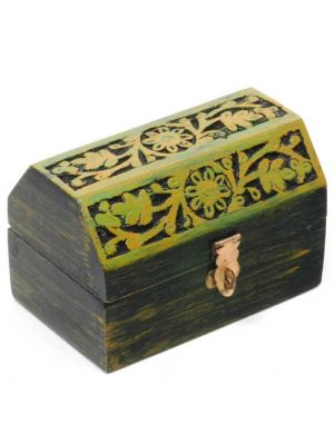 Mango Wood Carved And Hand Painted Box 5