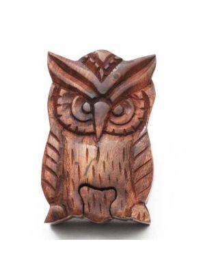 Wood Owl Puzzle Box 5
