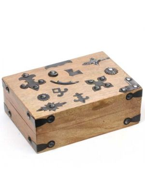 Mango Wood Box With Metal Ornamentation 7