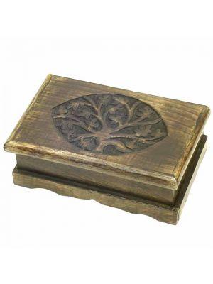 Wood Box Tree Of Life  8.5x5