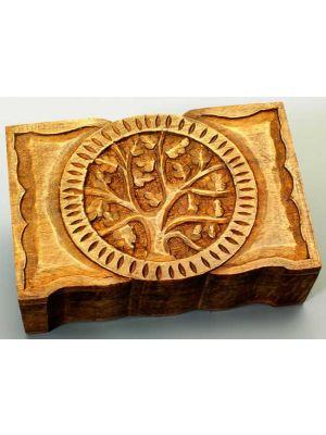 Wood Box Tree Of Life Hinged 9x6
