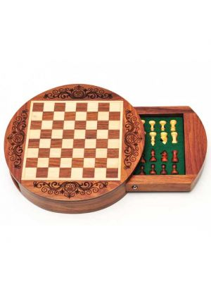 Magnetic Wood Chess Set Round 6