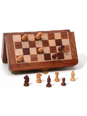Magnetic Folding Wood Chess Set 7