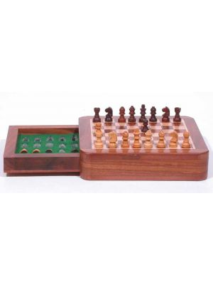 Magnetic Wood Chess Set with Drawer 5
