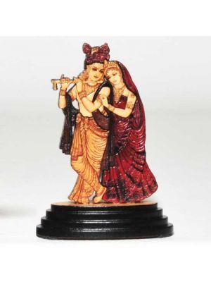 Laser Etched Wood Radha/Krishna 3