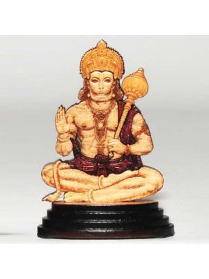 Laser Etched Wood Hanuman 3