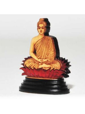 Laser Etched Wood Buddha 2.6