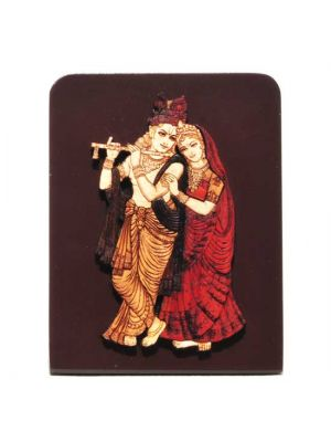 Laser Etched Radha/Krishna with Stand 4