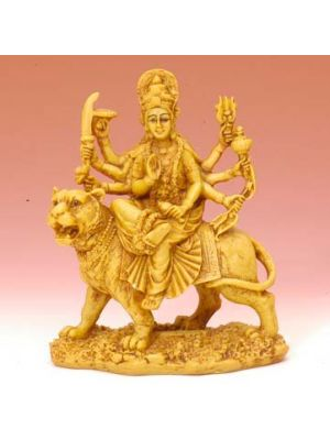 Resin Durga On Lion 5.25