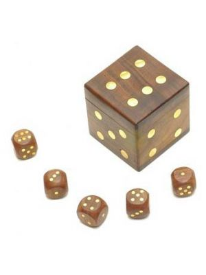 Wood Cube Dice Box 2.5