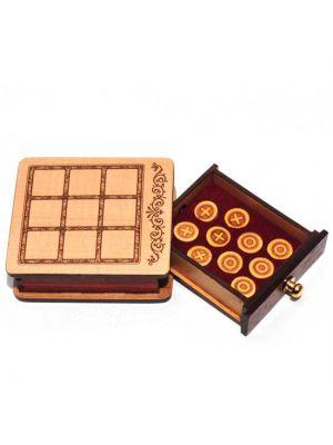 Wood Magnetic Tic-Tac-Toe Game 3.5